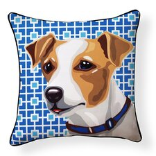 Pooch D?cor Jack Russell Indoor/Outdoor Throw Pillow