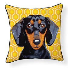 Pooch D?cor Dachshund Indoor/Outdoor Throw Pillow
