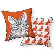 2017 Coupon Little Cat Throw Pillow