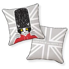Keep Calm and Kitty On Throw Pillow