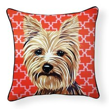 Pooch D?cor Yorkshire Terrier Indoor/Outdoor Throw Pillow