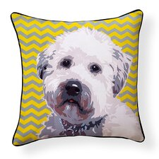 Pooch D?cor Wheaten Terrier Indoor/Outdoor Throw Pillow