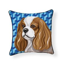 Pooch D?cor King Charles Spaniel Throw Pillow