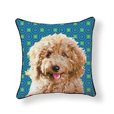 Pooch D?cor Labradoodle Throw Pillow