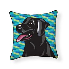 Pooch D?cor Labrador Indoor/Outdoor Throw Pillow