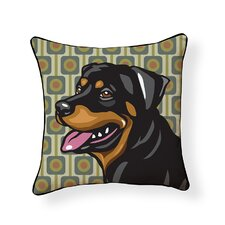 Pooch D?cor Rottweiler Indoor/Outdoor Throw Pillow