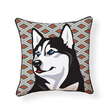 Pooch D?cor Husky Indoor/Outdoor Throw Pillow