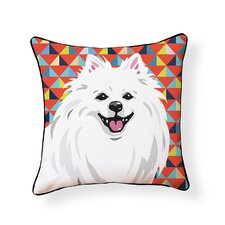 Pooch D?cor American Eskimo Indoor/Outdoor Throw Pillow