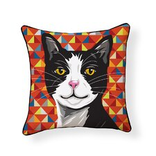 Tuxedo Cat Indoor/Outdoor Throw Pillow