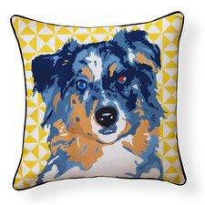 Pooch D?cor Australian Shepherd Indoor/Outdoor Throw Pillow