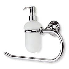 Elite Classic Towel Ring and Glass Soap Dispenser