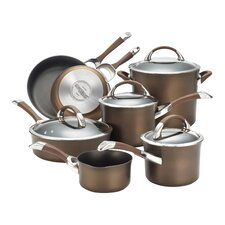 Symmetry Hard Anodized Non-Stick 11 Piece Cookware Set