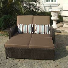 #1 Double Chaise Lounge with Cushions