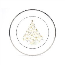 Palace Christmas Platinum Holiday Accent Plate (Set of 4)