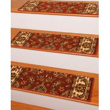 Sydney Red Classic Persian Stair Tread (Set of 13)