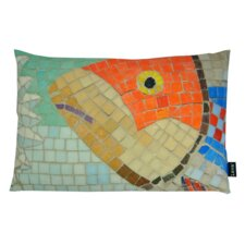 Fish Mosaic Indoor/Outdoor Lumbar Pillow