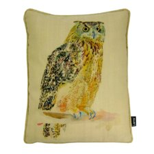 Watercolor Owl Indoor/Outdoor Lumbar Pillow