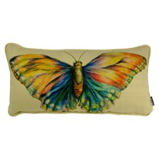 Watercolor Butterfly on Texture Lumbar Pillow