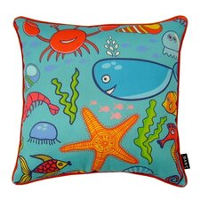 Water World Indoor/Outdoor Throw Pillow