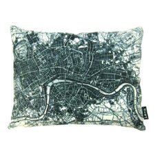 Old London Map Lumbar Pillow