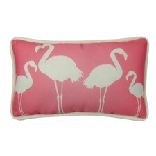 Flamingo Indoor/Outdoor Lumbar Pillow