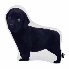 Lab Puppy Shaped Indoor/Outdoor Throw Pillow