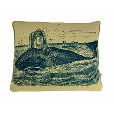 Whale at Sea Lumbar Pillow