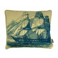 Ship at Sea Synthetic Fabric Lumbar Pillow