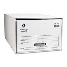 Storage DraWhiter, Legal, White, 6-Pack