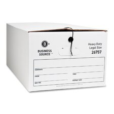 Storage Box, Legal, White, 12-Pack