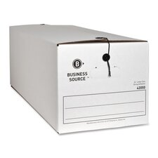 """Storage Boxes, Letter, 12""""x24""""x10-1/4"""", White, 12-Pack"""