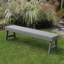 Weatherly Backless Synthetic Wood Picnic Bench