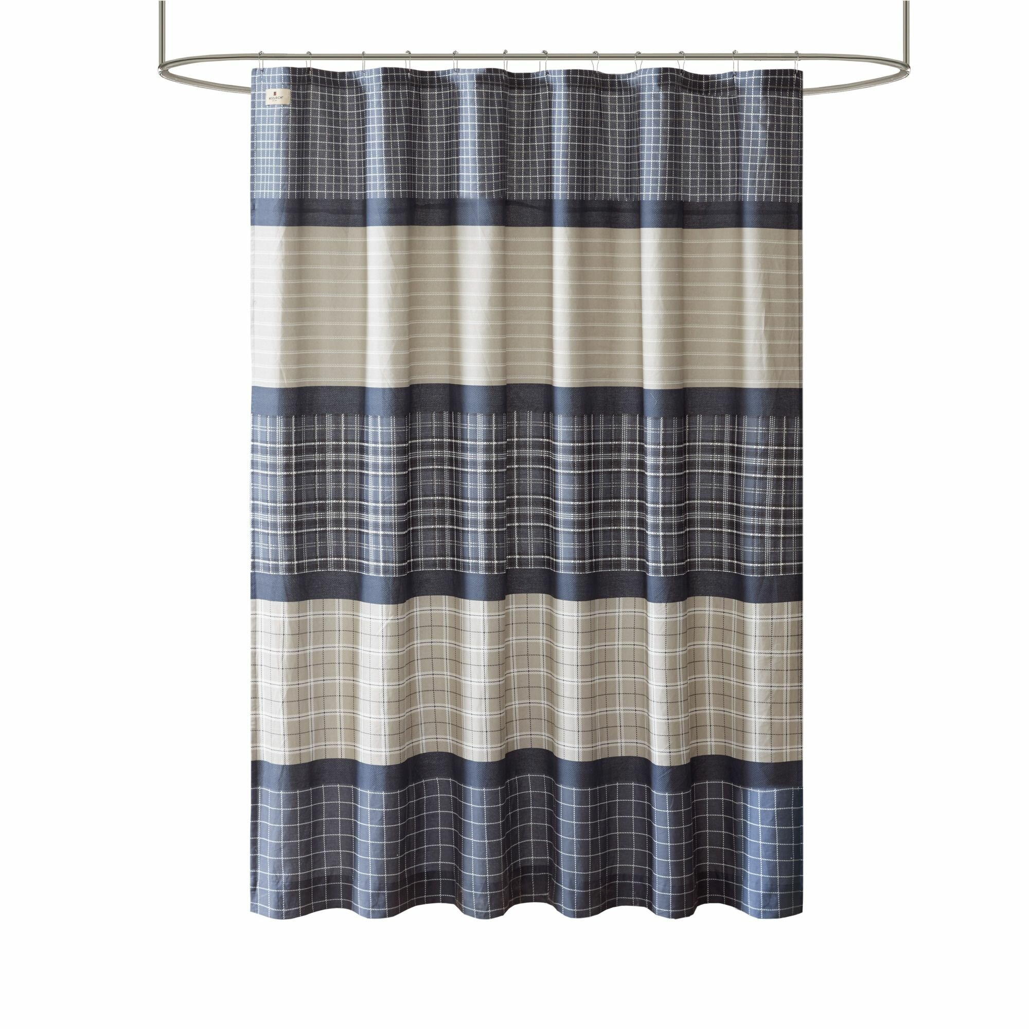 Details About Woolrich Flagship Printed Plaid Single Shower Curtain