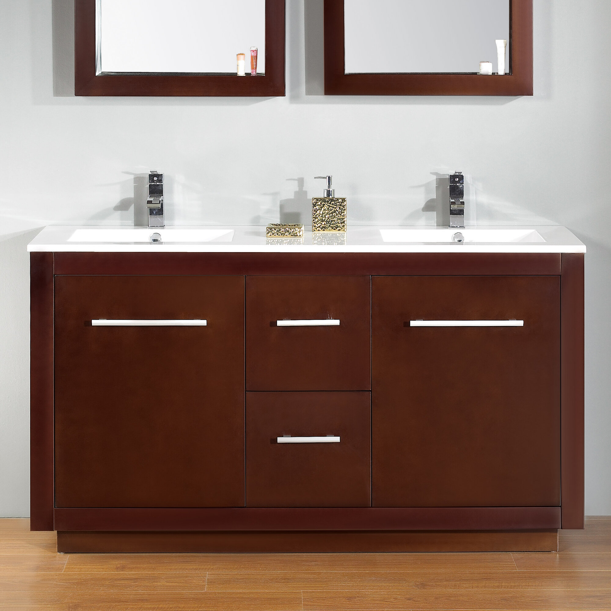 furniture product cambridge vanity hills double dsc white mission sink