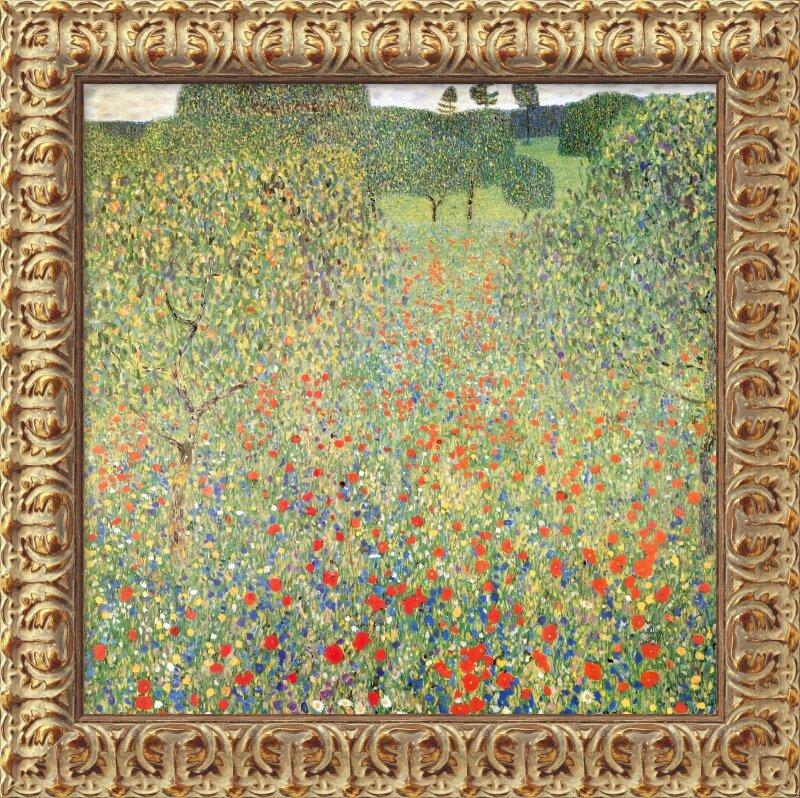 The Birch Wood by Gustav Klimt Trees Leaves Forest Flowers 8x10 Print 2216