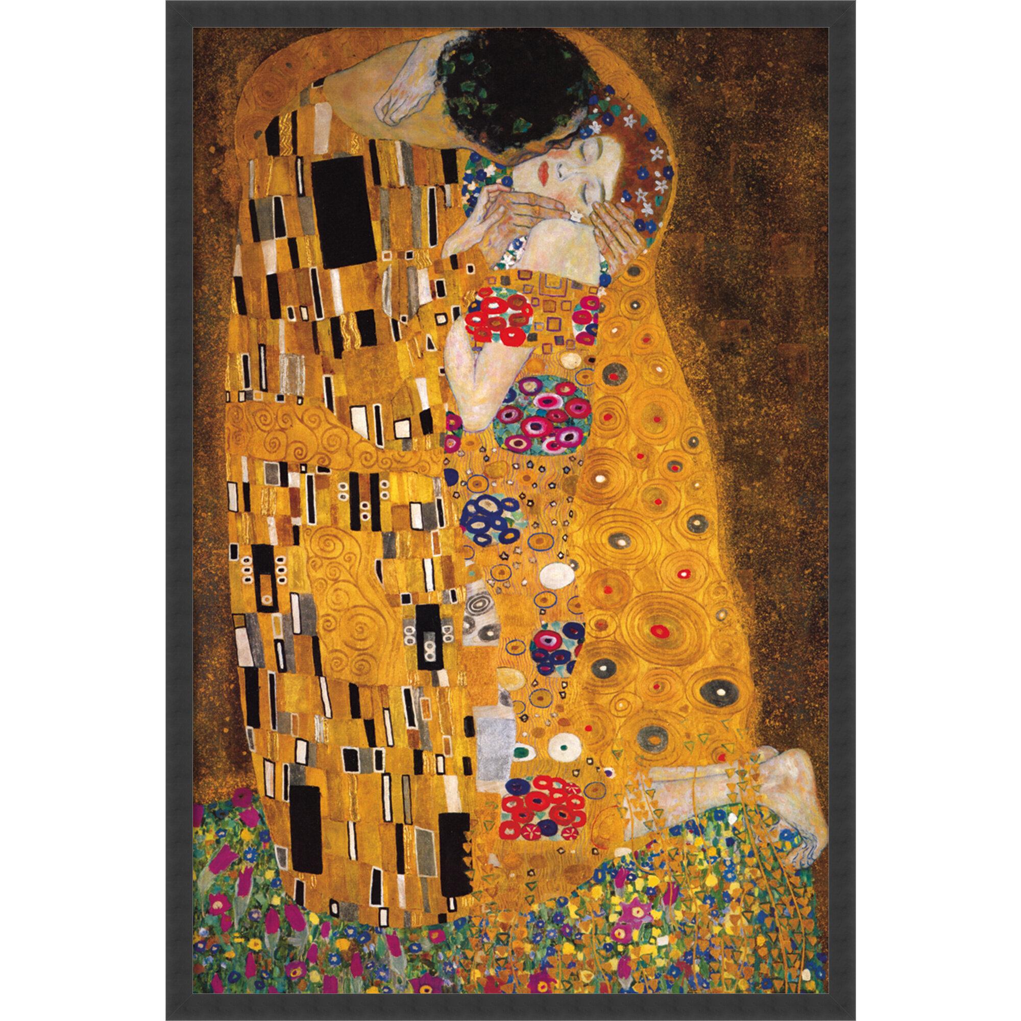 Gustav Klimt A4 size 21x29.7cm QUALITY Canvas Art Print Unframed The Kiss
