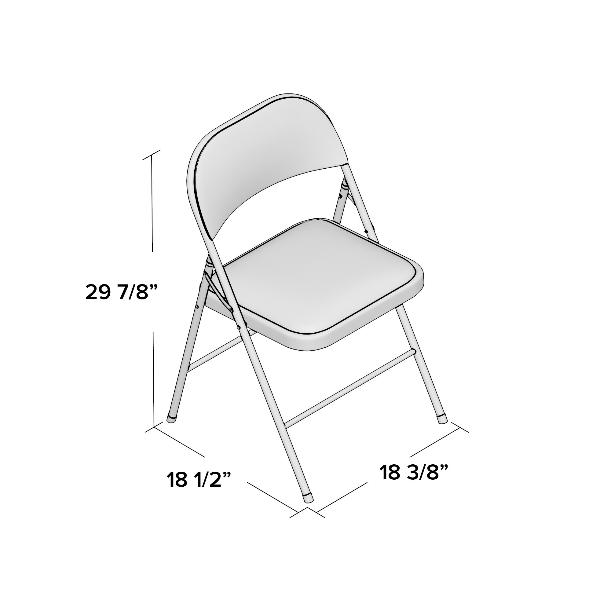 Fabulous Details About Cosco Home And Office Vinyl Padded Folding Chair Set Of 4 Pabps2019 Chair Design Images Pabps2019Com