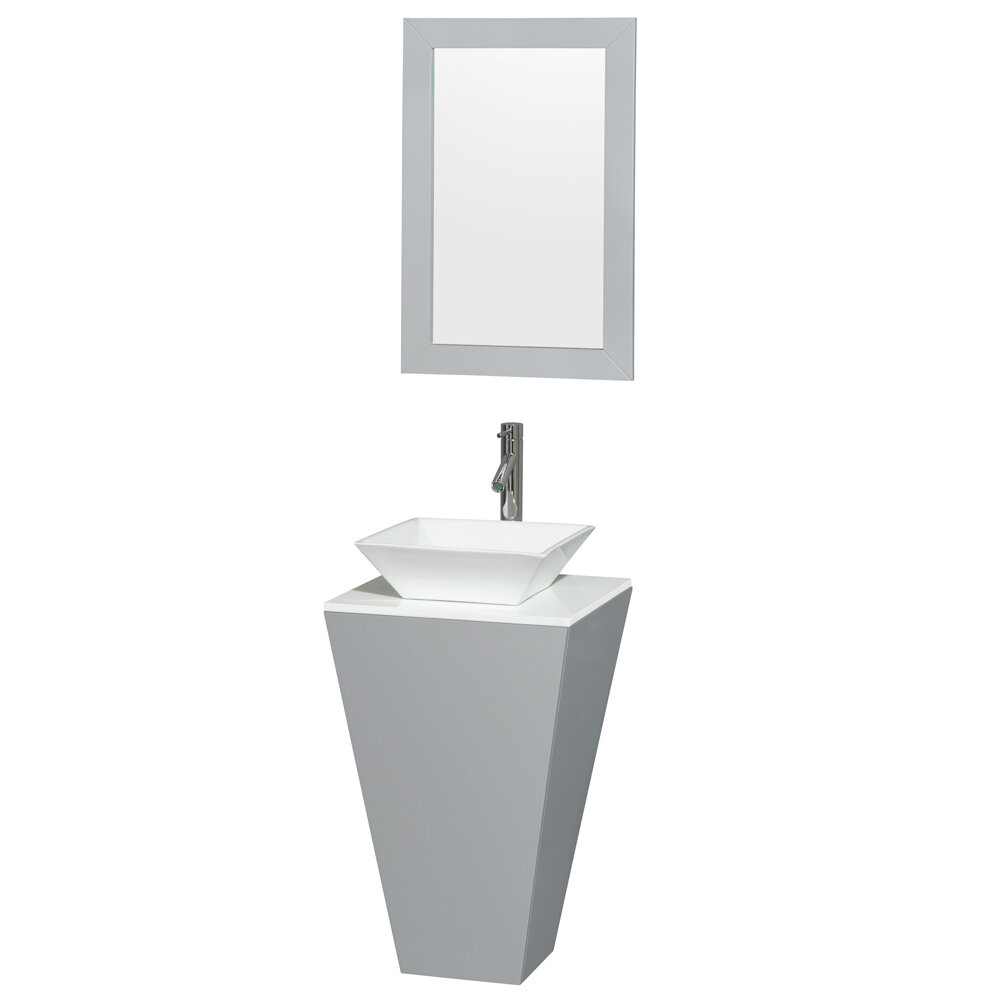 Wyndham Collection Esprit 20 034 Single Pedestal Bathroom