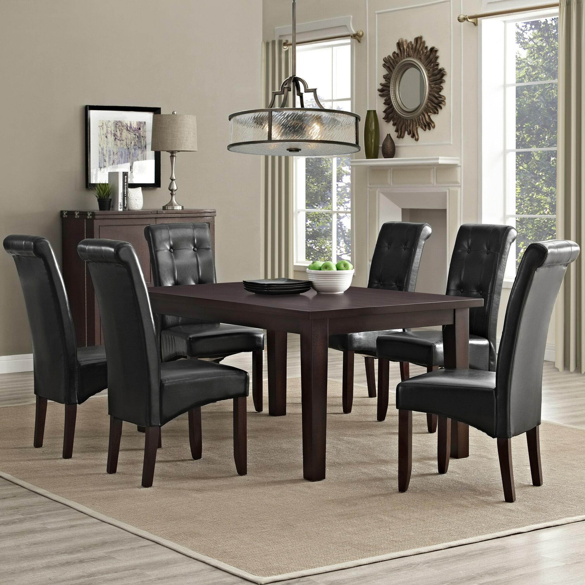 Details About Simpli Home Cosmopolitan 7 Piece Dining Set