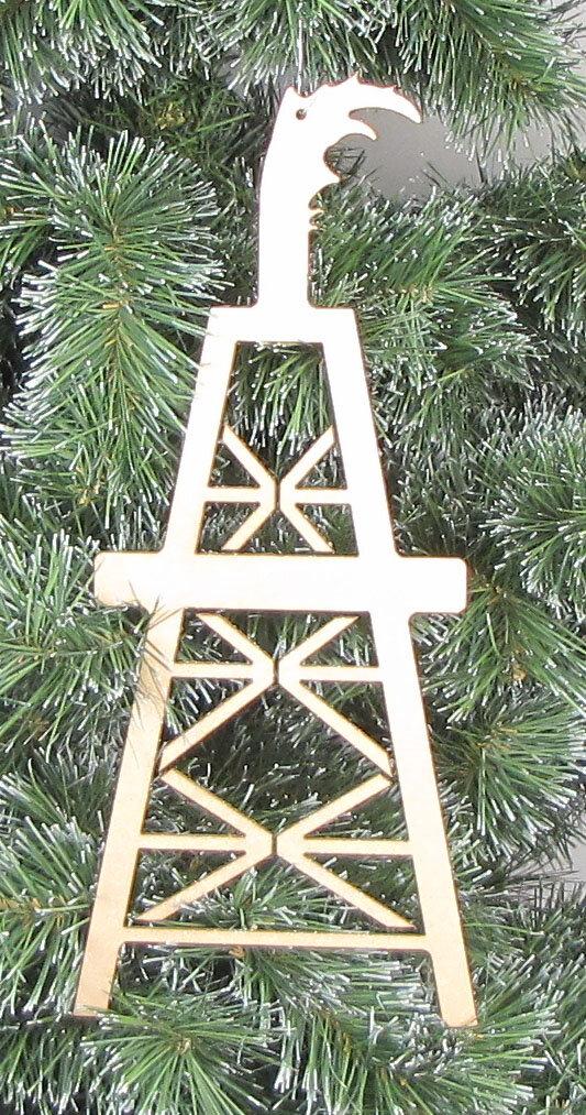 Oil Derrick Fan Pull Ornament