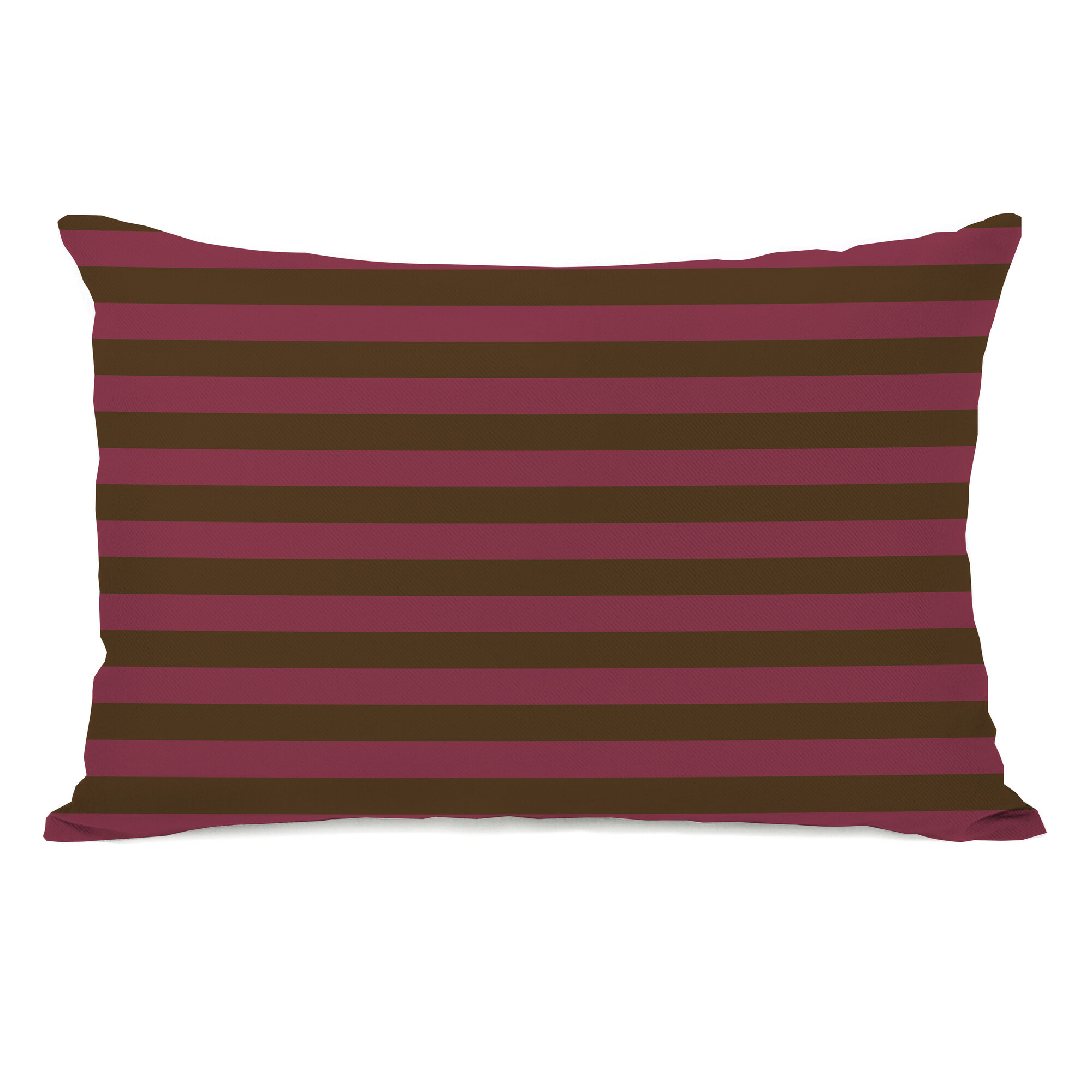 Orvis Maidstone Striped Denim Cotton Standard Pillow Sham Red Ivory Cover Case