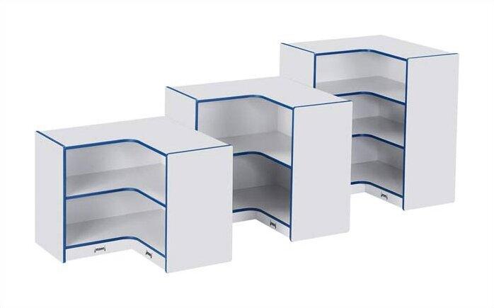 Jonti Craft Rainbow Accents 3 Compartment Shelving Unit