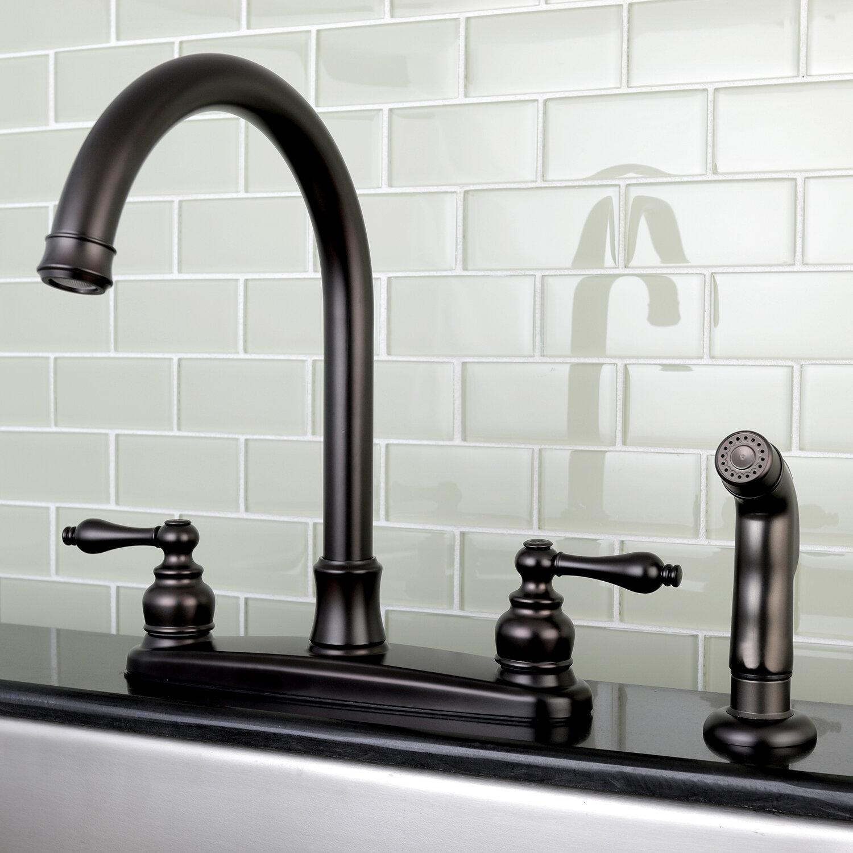 Kingston Brass Victorian Centerset Double Handle Kitchen Faucet