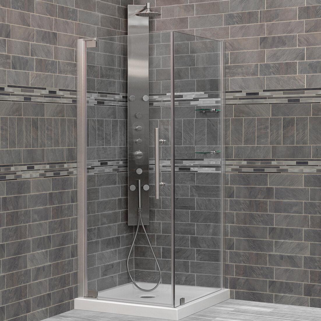 Details About Lesscare Ultra G 30 X 72 Pivot Shower Door Chrome
