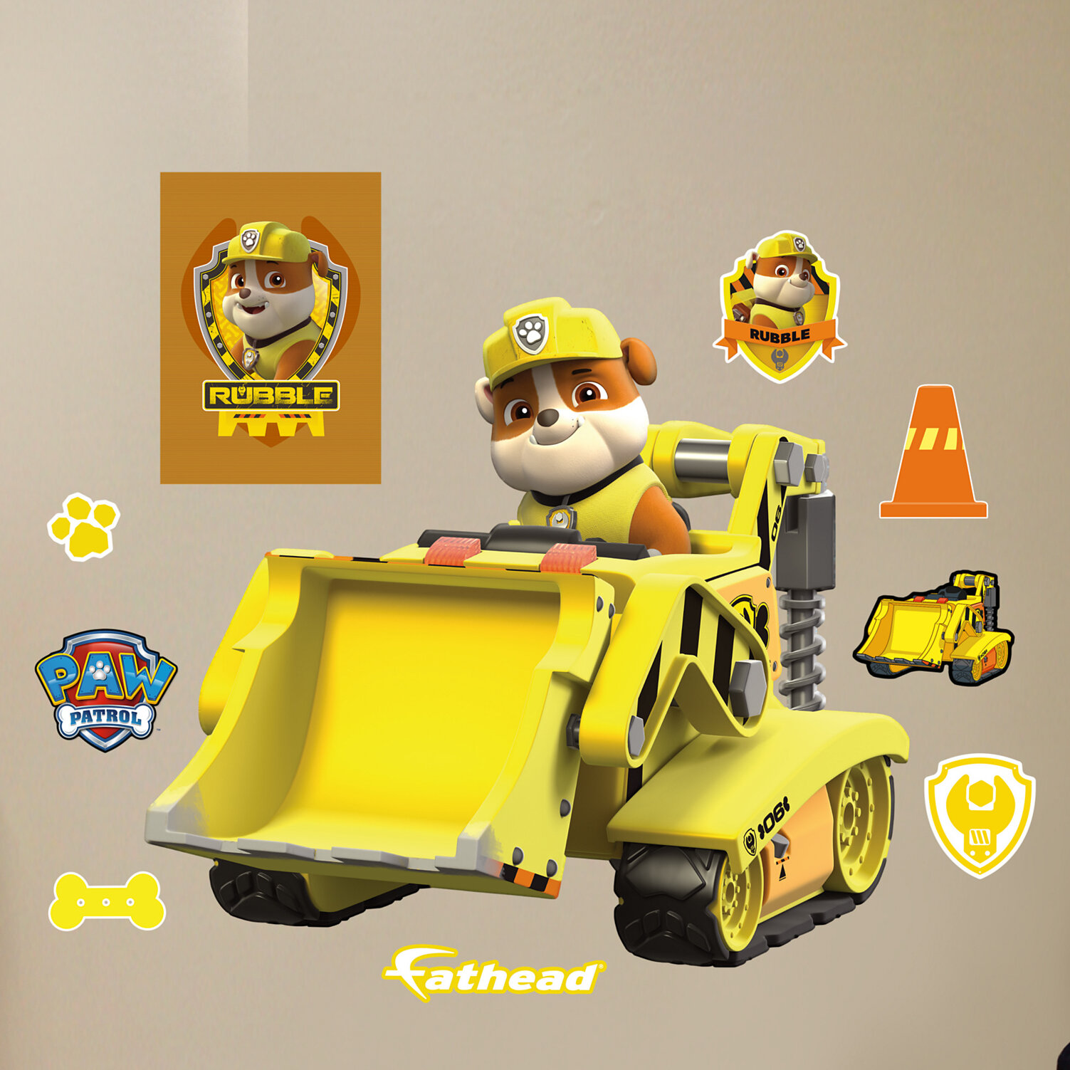 Fathead Nickelodeon Rubble\'s Digger Peel and Stick Wall Decal   eBay