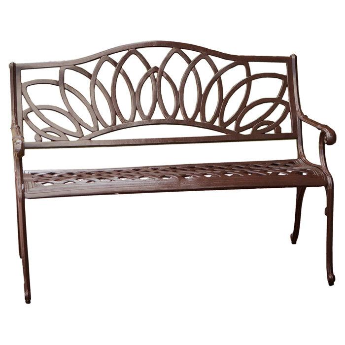 Home Loft Concepts Ramsey Spiral Cast Aluminum Outdoor Bench | eBay