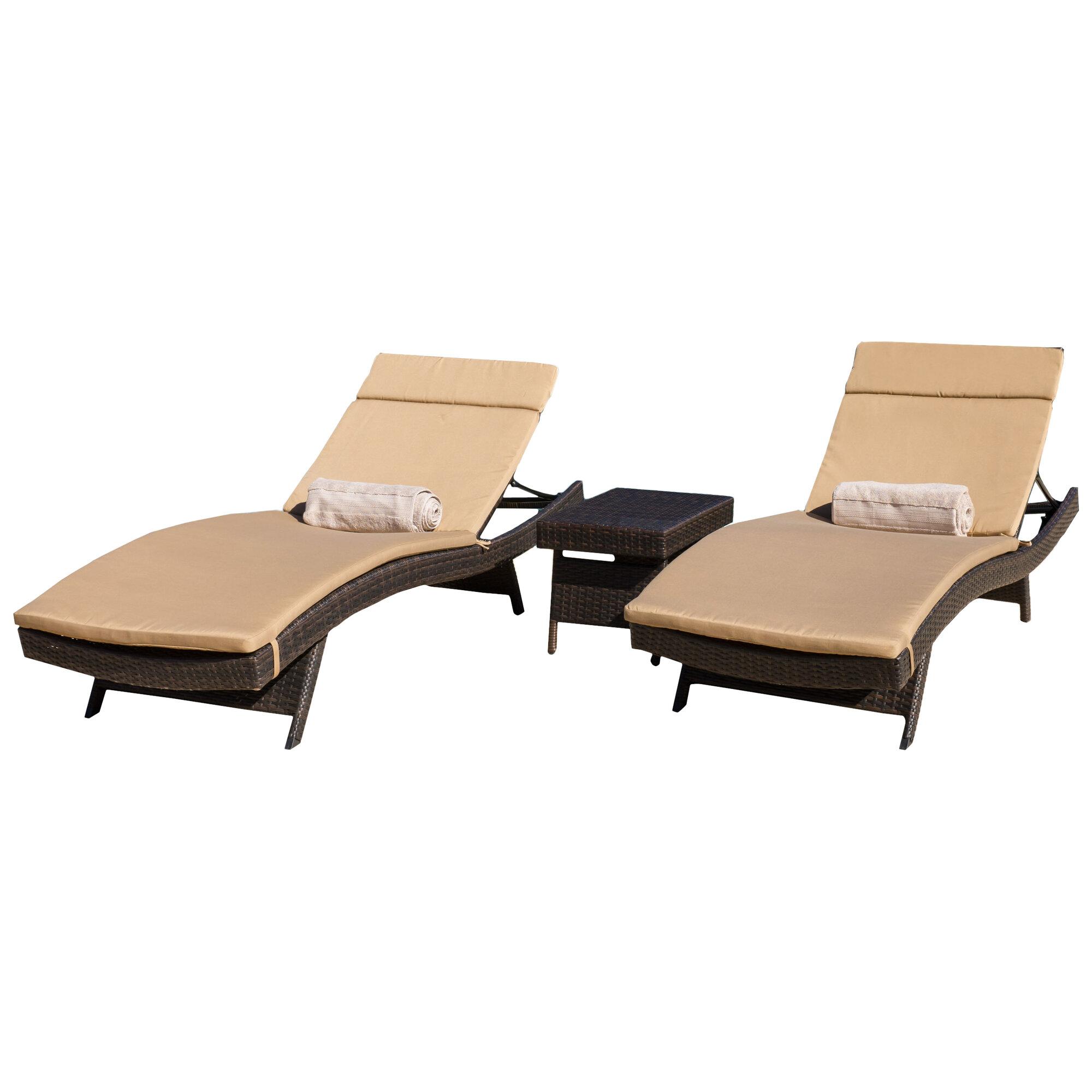Home Loft Concepts Rio Vista Chaise Lounge Set with Cushion | eBay
