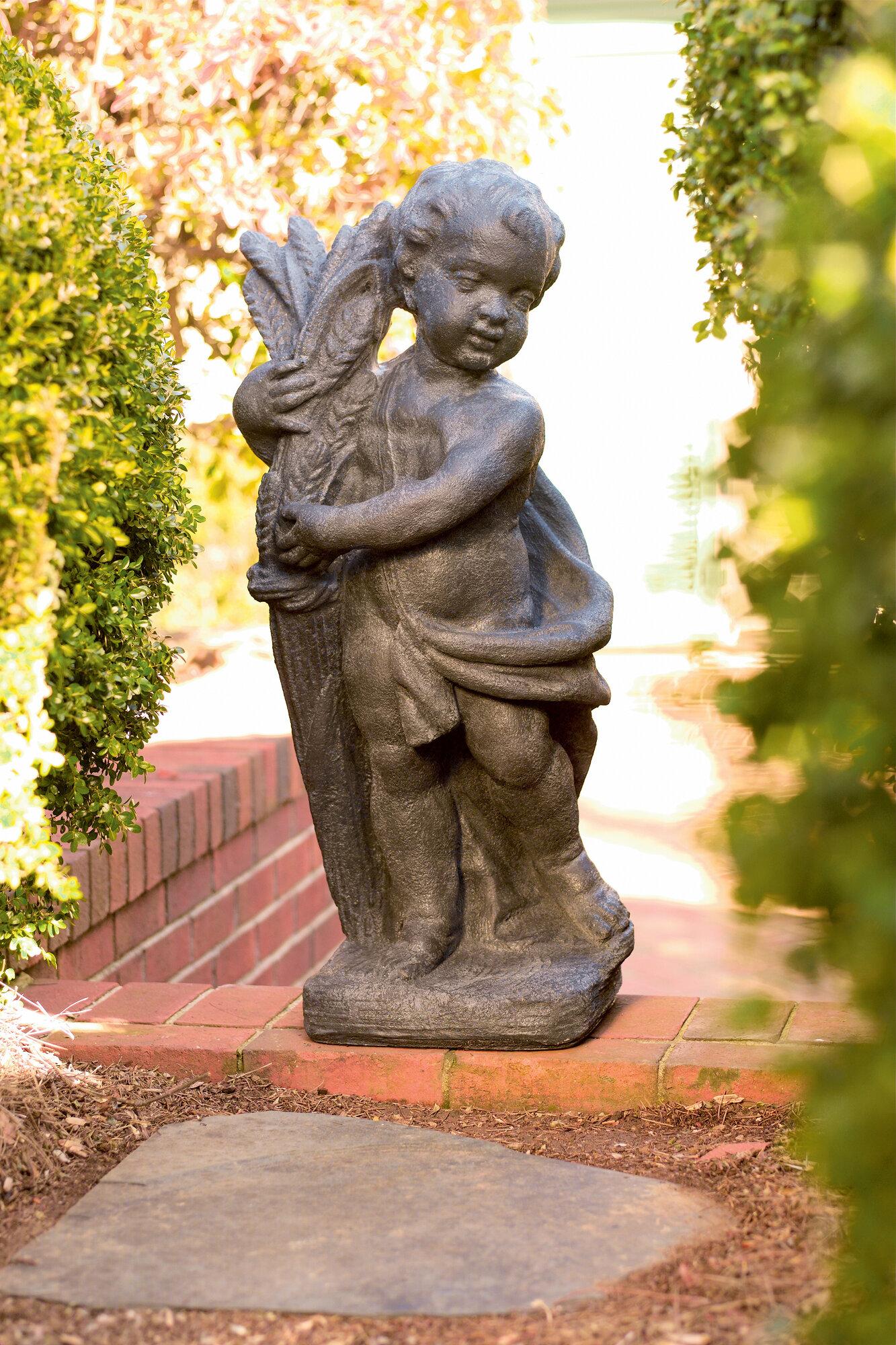 Ladybug Garden Decor Cherubs Statue. OUR SKU# LDYB1117 | MPN: 80212L