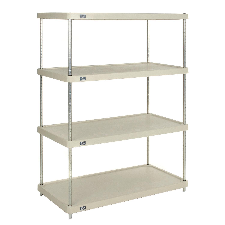 Details About Nexel Solid Plastic 4 Shelf Shelving Unit