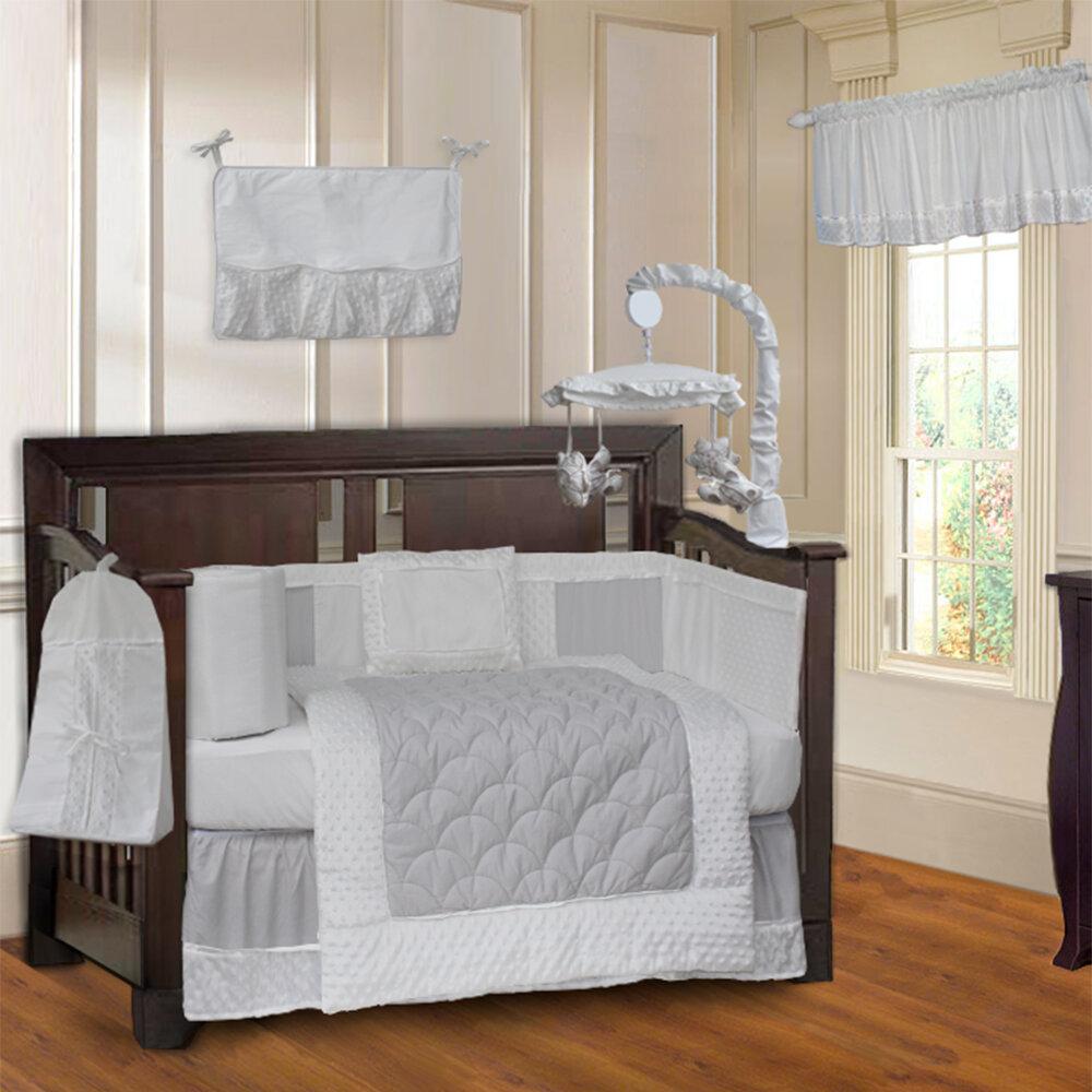 Babyfad Minky 10 Piece Crib Bedding Set Ebay